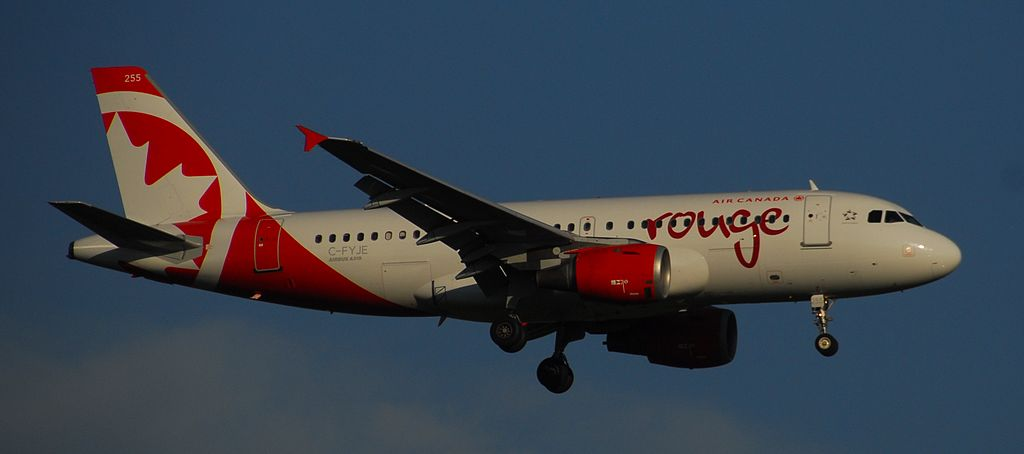 Air Canada Rouge C FYJE Airbus A319 114 cnserial number 656 Flight ROU1791 from MRLB to LIR