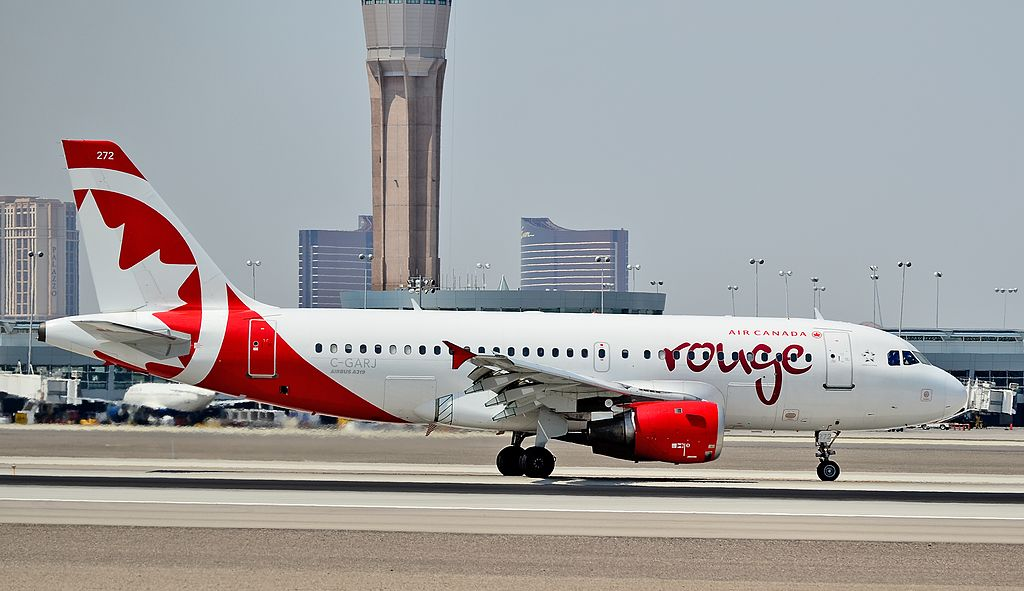 Air Canada Rouge C GARJ Airbus A319 100 at Las Vegas McCarran International Airport LAS KLAS USA