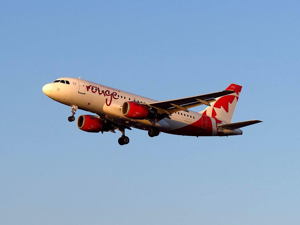 Air Canada Rouge C GARJ Airbus A319 100 at Los Angeles International Airport