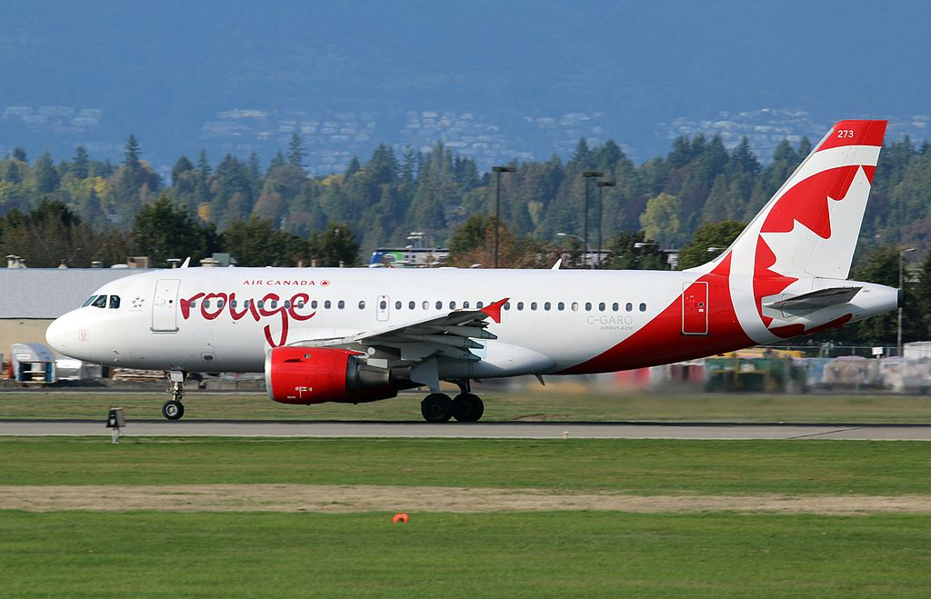 Air Canada Rouge C GARO Airbus A319 114 cnserial number 757 at Vancouver International Airport YVR