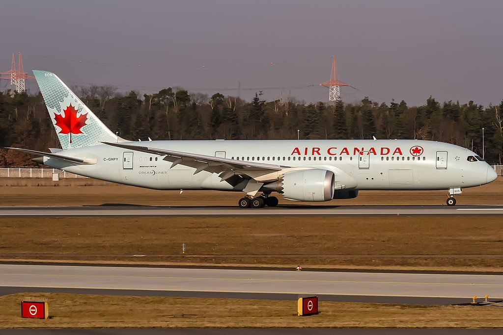 Air Canada Widebody Aircraft Boeing 787 8 Dreamliner C GHPY at Frankfurt International FRA EDDF