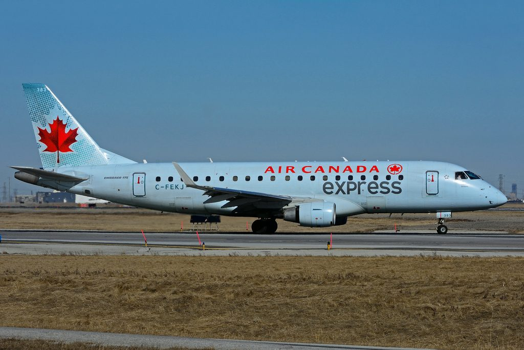 Air Canada express Embraer E175 C FEKJ operated by Sky Regional Airlines at Toronto Lester B. Pearson Airport YYZ