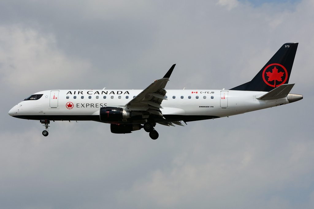 Air Canada express operated by Sky Regional Airlines C FEJB Embraer E175 at Toronto Lester B. Pearson Airport YYZ