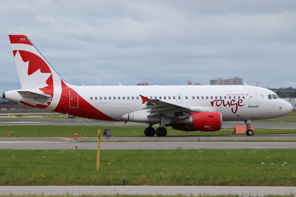 Airbus A319 112 Air Canada Rouge C GJVY YYZ Toronto ON Lester B. Pearson International Airport