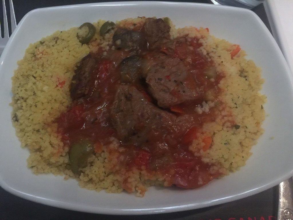 Airbus A320 200 Air Canada aircraft business class cabin inflight meal food main course photos