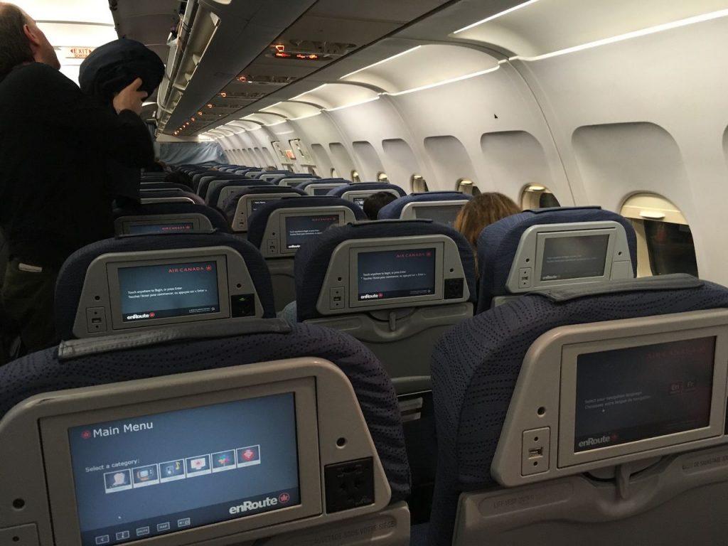Airbus A320 200 Air Canada aircraft economy class cabin interior design photos