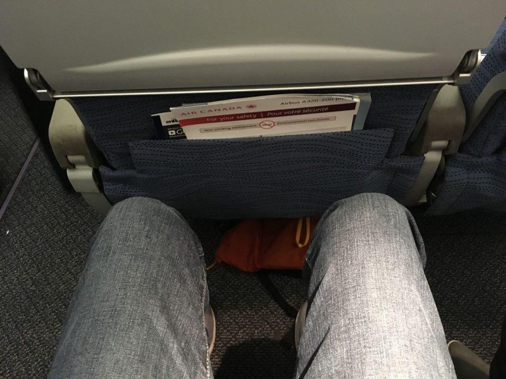 Airbus A320 200 Air Canada aircraft economy class cabin seats pitch good legroom photos