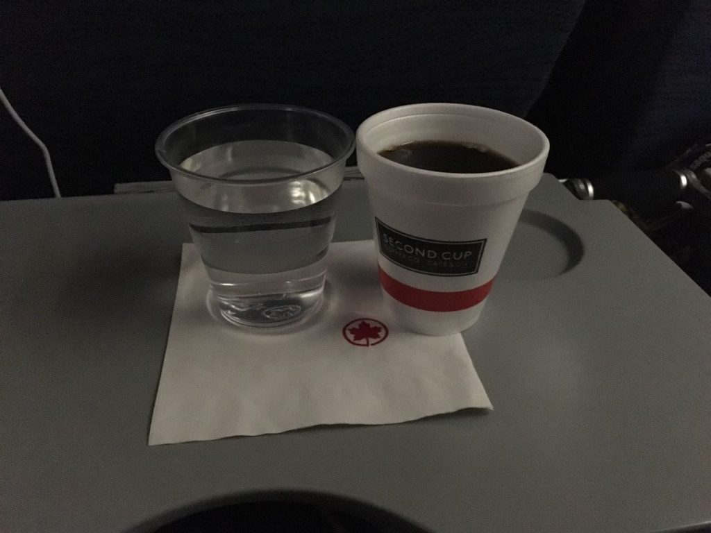 Airbus A320 200 Air Canada aircraft economy class pre departure drinks services