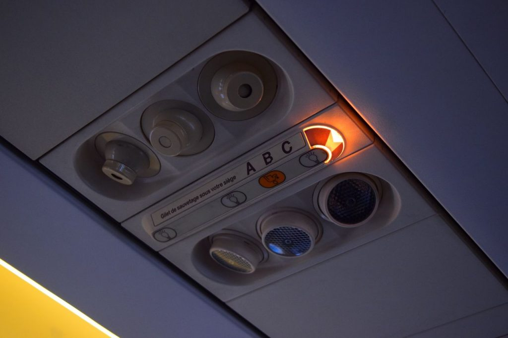 Airbus A320 200 Air Canada fleet economy class cabin overhead panel control