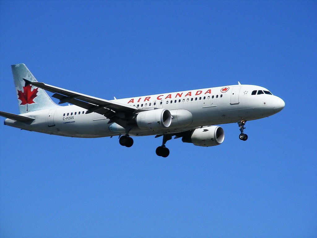 Airbus A320 200 of Air Canada C FZQS at Montréal Pierre Elliott Trudeau International Airport
