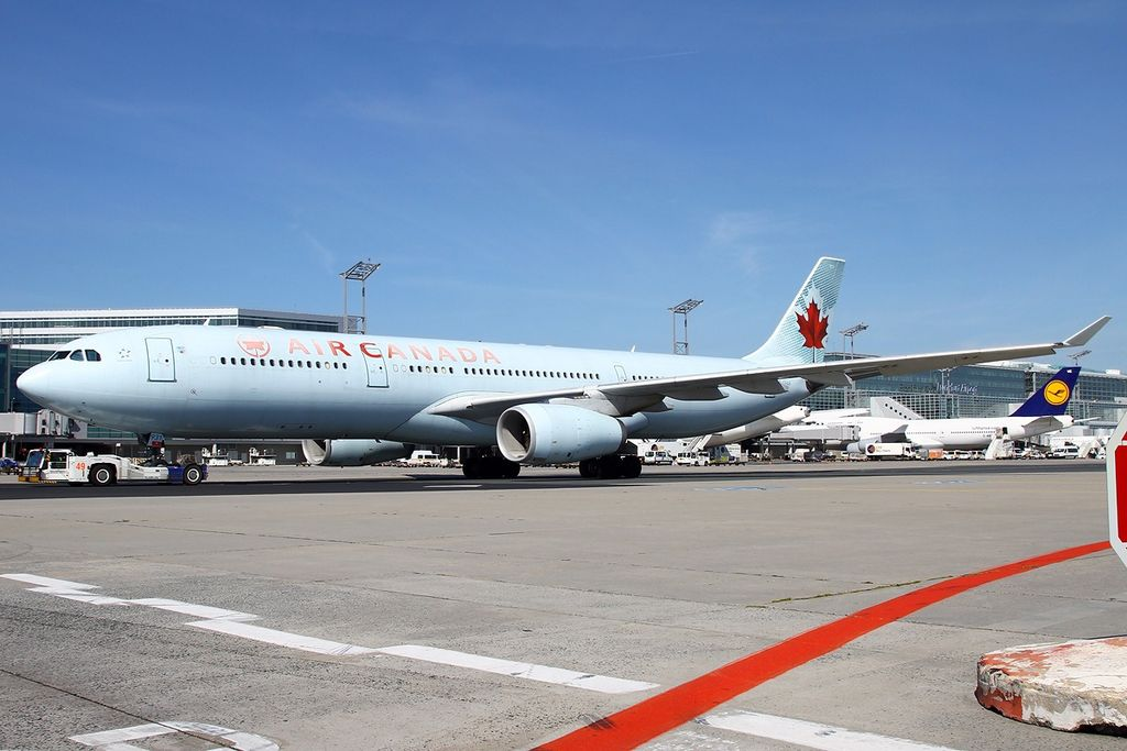 Airbus A330 343X Air Canada widebody aircraft C GFAF at Frankfurt am Main Rhein Main AB FRA FRF EDDF Germany