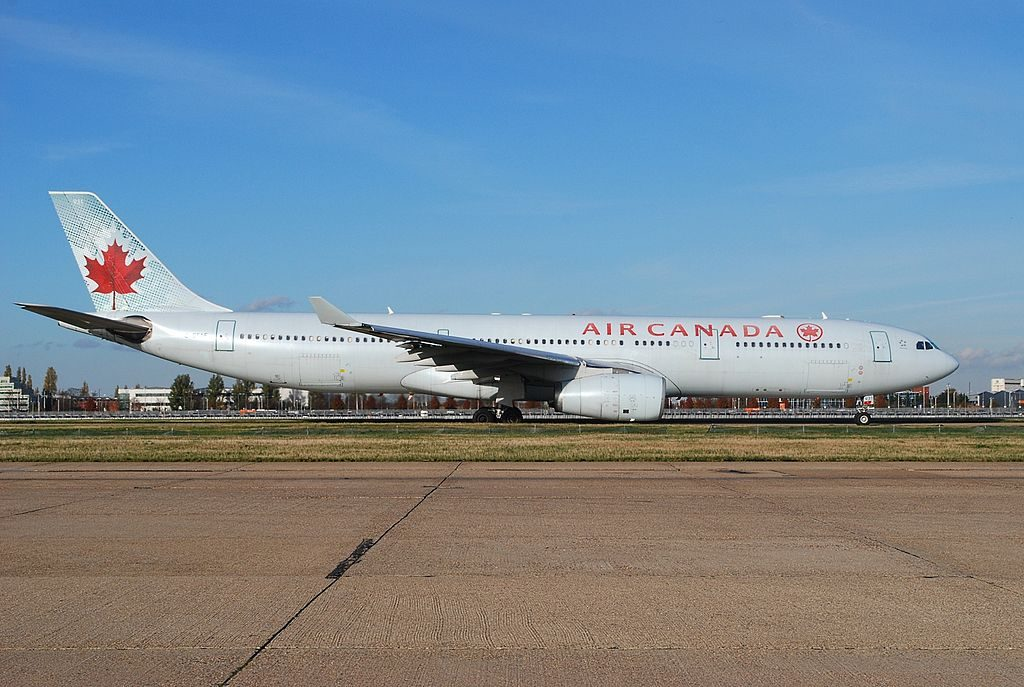 Airbus A330 343X Air Canada widebody aircraft C GFAF at Heathrow Airport IATA LHR ICAO EGLL