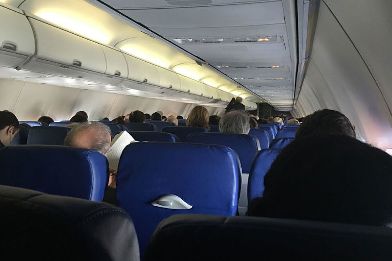 Boeing 737 800 Southwest Airlines Economy Cabin Interior Configuration Onboard View