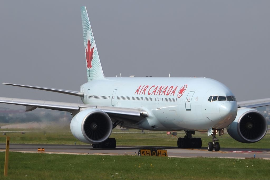 Boeing 777 200LR of Air Canada Fleet C FNND at YYZ Toronto ON Lester B. Pearson International Airport Canada