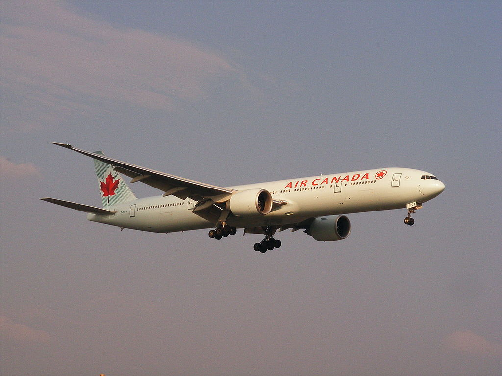 Boeing 777 300ER of Air Canada C FIUW at Montréal Pierre Elliott Trudeau International Airport