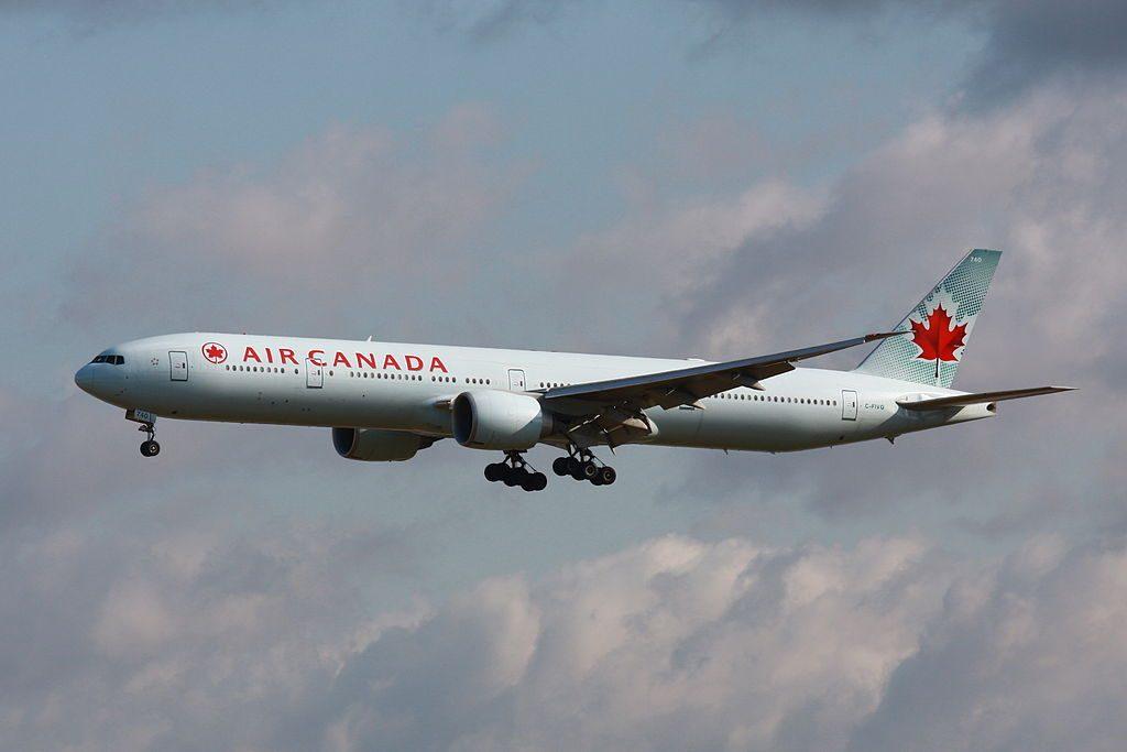 Boeing 777 300ER of Air Canada C FIVQ at EDDF Frankfurt Airport