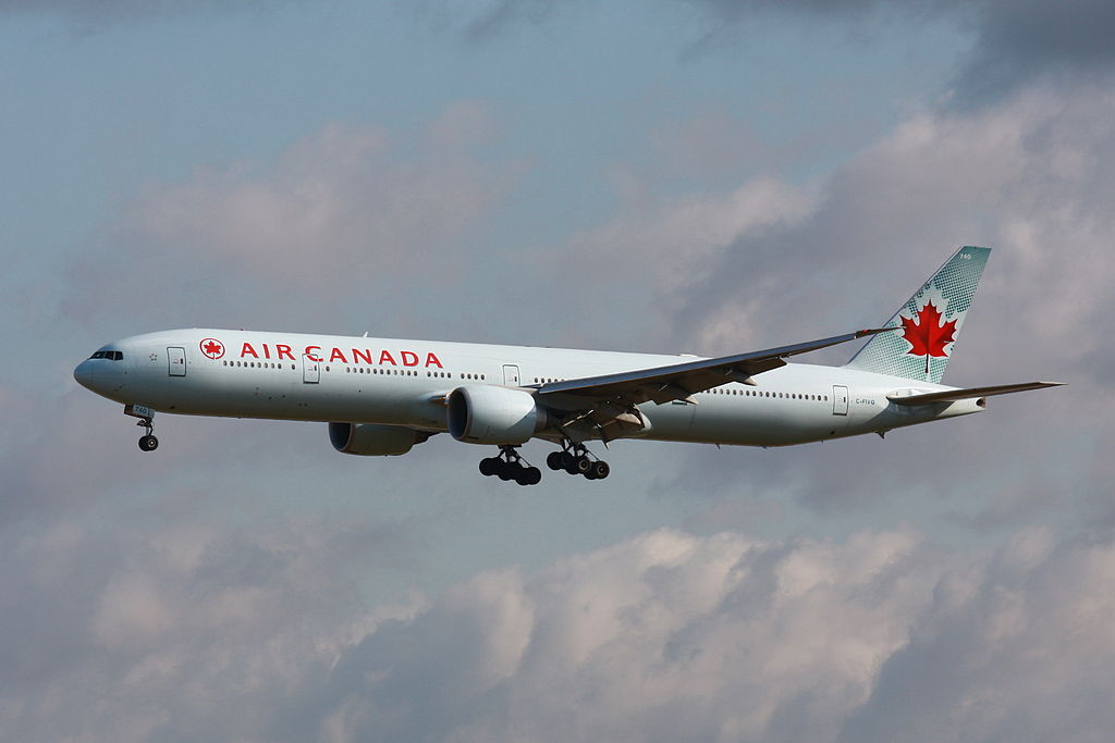 Boeing 777 300ER of Air Canada C FIVQ at EDDF Frankfurt Airport
