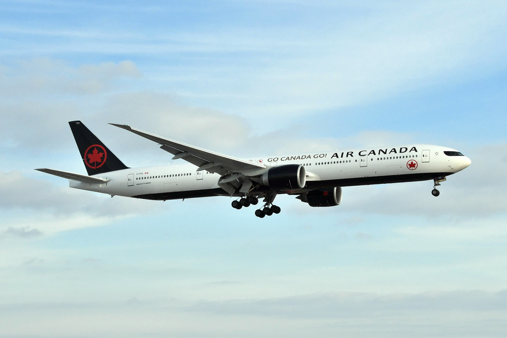 Boeing 777 333ER Air Canada C FITL ACA6 from Tokyo at CYYZ on new livery 22Go Canada Go22 titles for the 2018 Winter Olympics