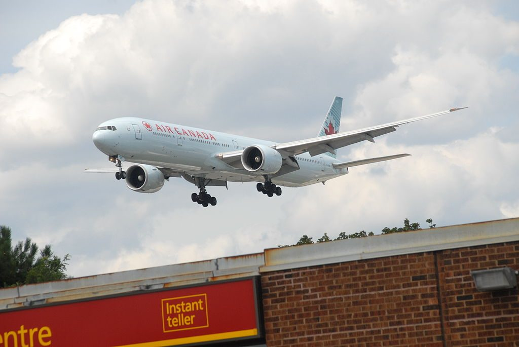 Boeing 777 333ER C FIUR Air Canada on final approach at Toronto Pearson International Airport