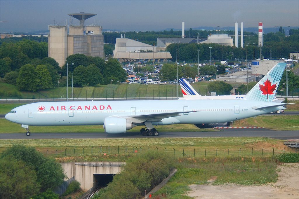Boeing 777 333ER C FIUR Air Canada taxiing at Paris CDG