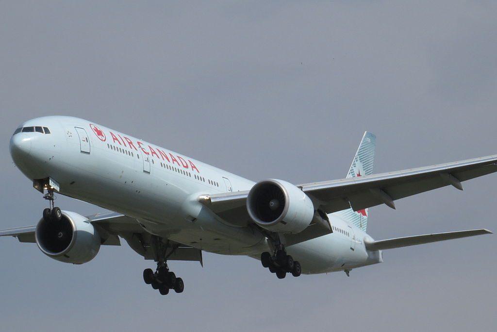 Boeing 777 333ER cn 35251 717 Air Canada C FIVM on final at Beijing Capital International Airport