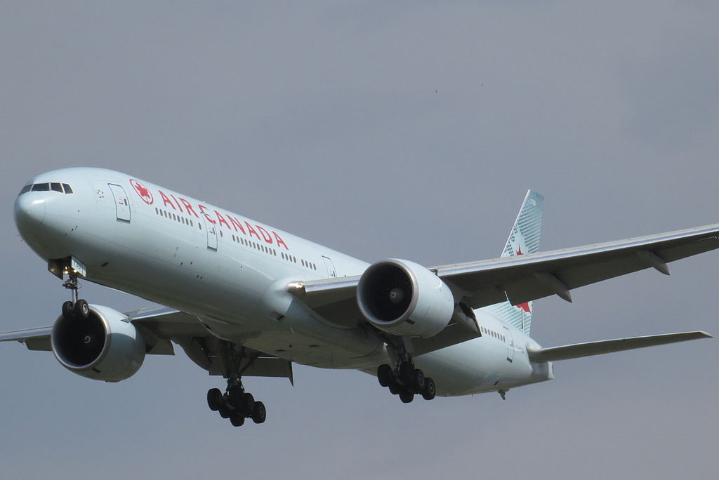 Boeing 777 333ER cn 35251 717 Air Canada C FIVM on final at Beijing Capital International Airport