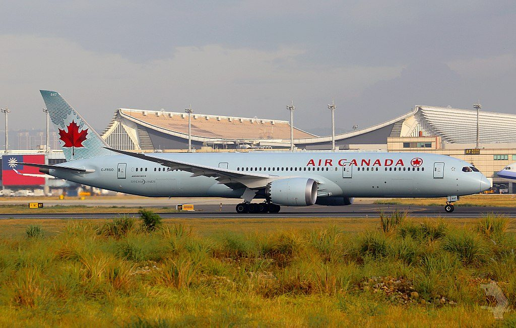 Boeing 787 9 Dreamliner of Air Canada C FRSO at Taiwan Taoyuan International Airport