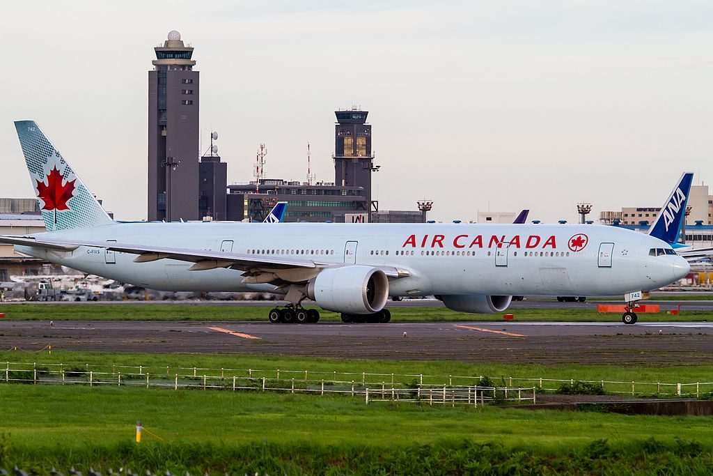 Boeing B777 333ER Air Canada C FIVS at Narita International Airport