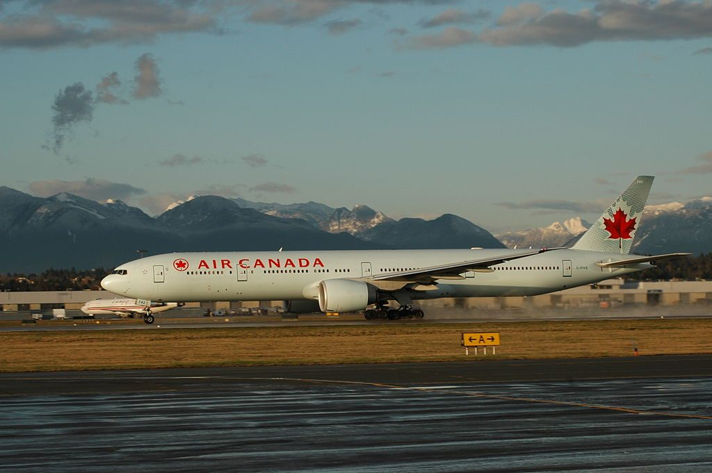 Boeing B777 333ER Air Canada C FIVS at Vancouver International Airport