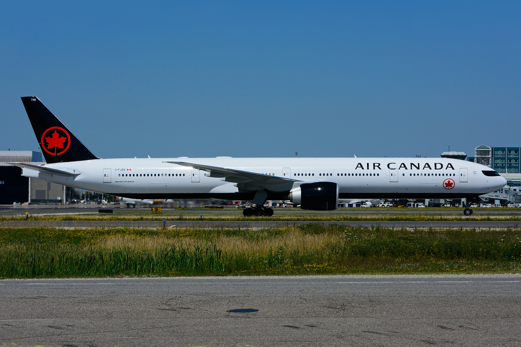 Boeing B777 333ER Air Canada C FJZS at Toronto Lester B. Pearson Airport YYZ