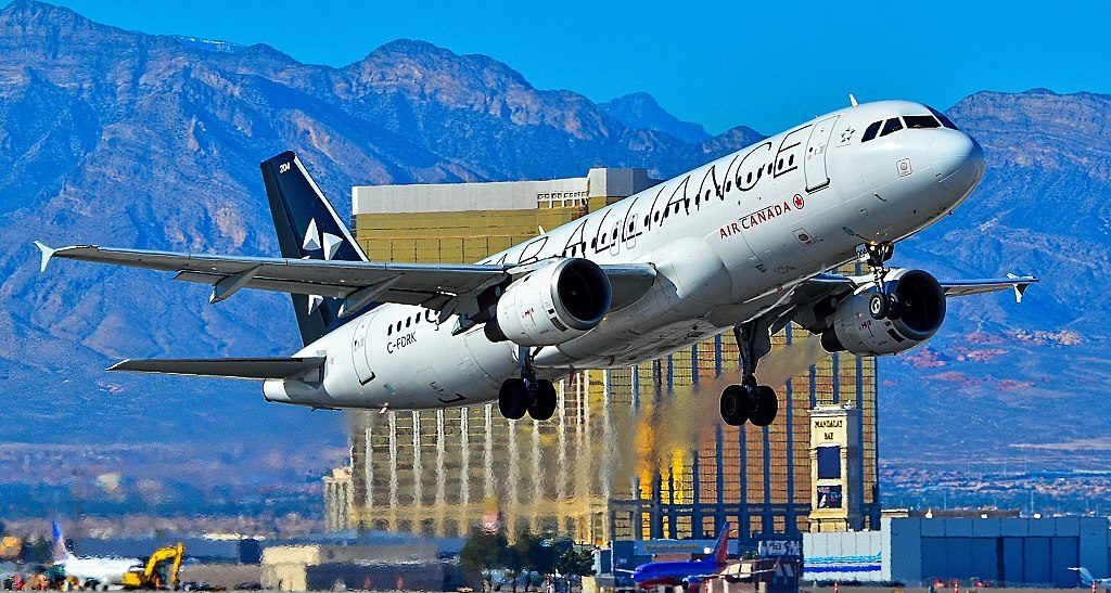 C FDRK Air Canada Aircraft Fleet Airbus A320 211 cn 084 Star Alliance Livery at Las Vegas McCarran International Airport LAS KLAS USA