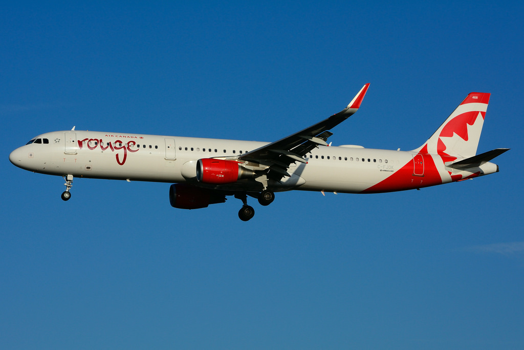 C FJOK Airbus A321 211SL Air Canada Rouge leased from CIT Aerospace at Toronto Lester B. Pearson Airport YYZ