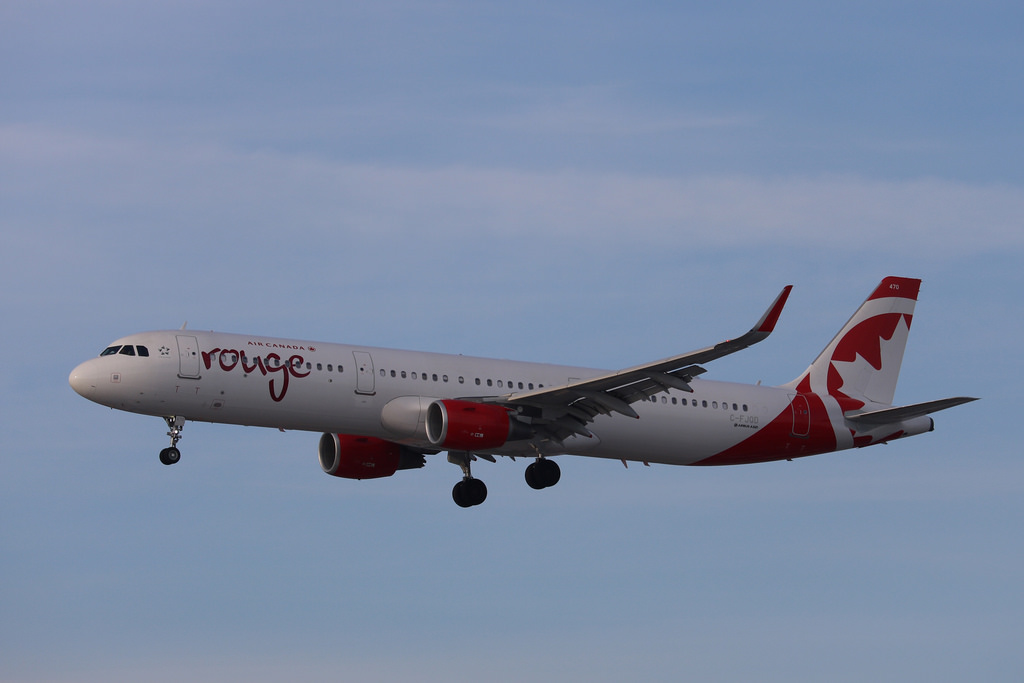 C FJQD Air Canada Rouge Airbus A321 200 at Toronto Pearson International Airport