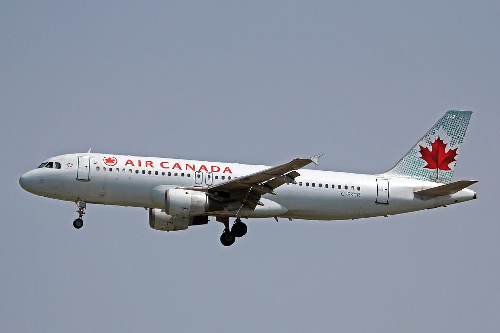 C FKCR Airbus A320 211 Air Canada aircraft fleet on final approach at Vancouver International Airport YVR