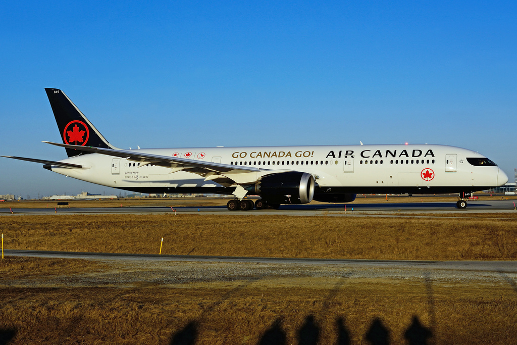 C FRTG Boeing B787 9 Dreamliner Air Canada with special GO CANADA GO at Toronto Lester B. Pearson Airport YYZ