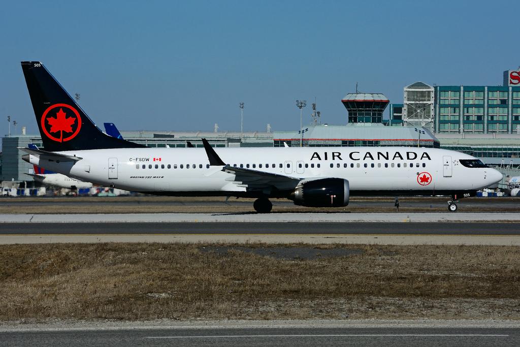 C FSDW Boeing B737 MAX 8 Air Canada at Toronto Lester B. Pearson Airport YYZ