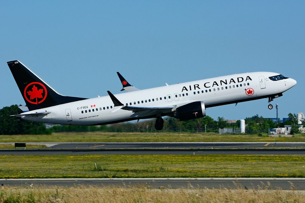 C FSEQ Boeing B737 MAX8 Air Canada at Toronto Lester B. Pearson Airport YYZ