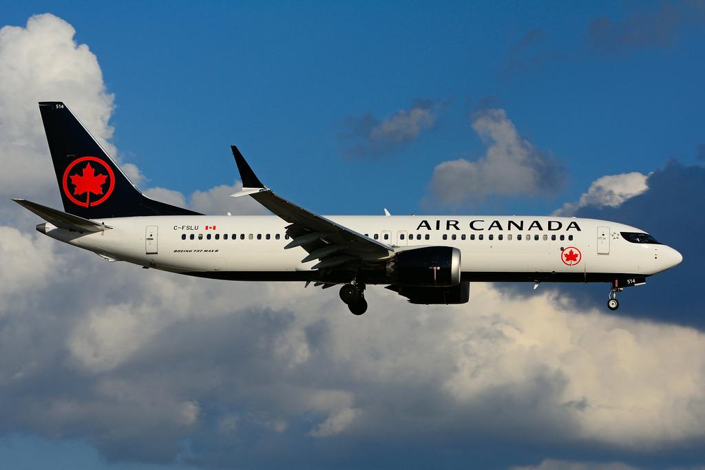 C FSLU Boeing 737 MAX 8 Air Canada landing at Toronto Lester B. Pearson Airport YYZ