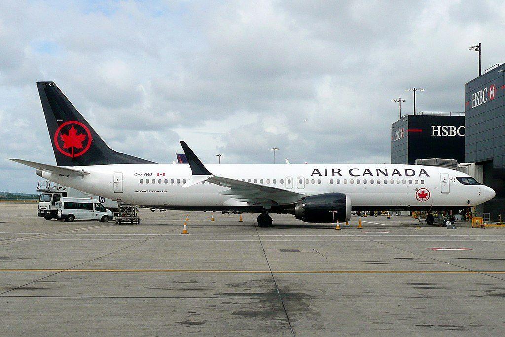 C FSNQ Boeing 737 MAX 8 Air Canada Aircraft Fleet at London Heathrow Airport