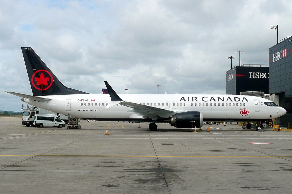 C FSNQ Boeing 737 MAX 8 Air Canada Aircraft Fleet at London Heathrow Airport