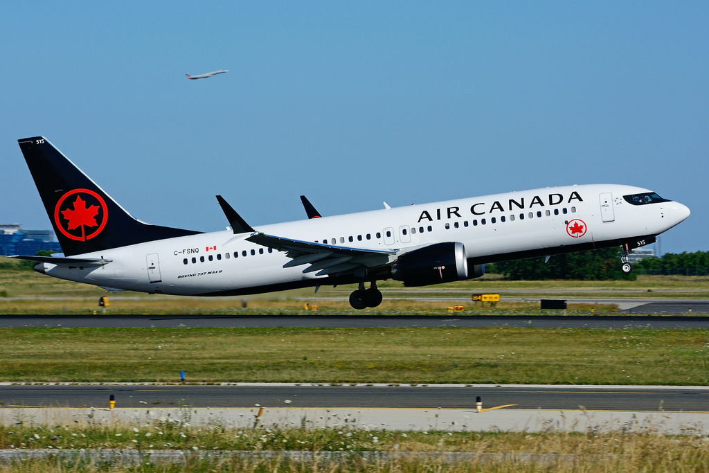 C FSNQ Boeing 737 MAX 8 Air Canada Aircraft Fleet landing and takeoff photos