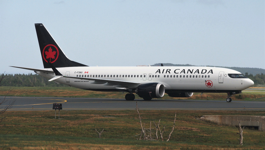 C FSNU Boeing B737 MAX 8 Air Canada at St. Johns International Airport