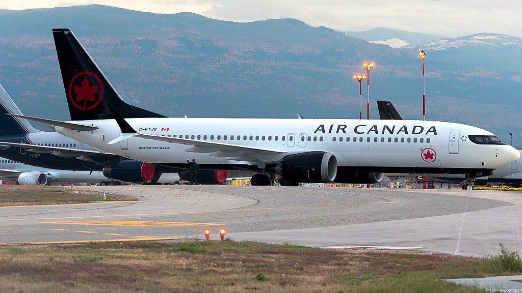 C FTJV Air Canada Boeing 737 MAX 8 at Kelowna International Airport
