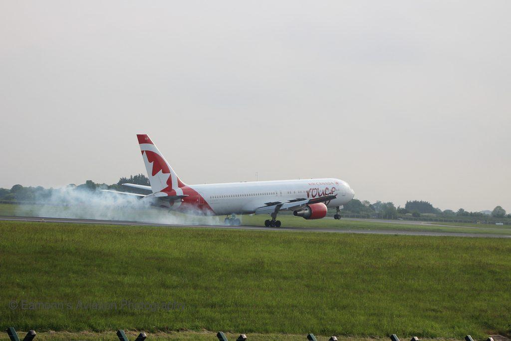 C FXCA Air Canada Rouge Boeing 767 300ER EIDW RWY10 AC1940 YVR DUB
