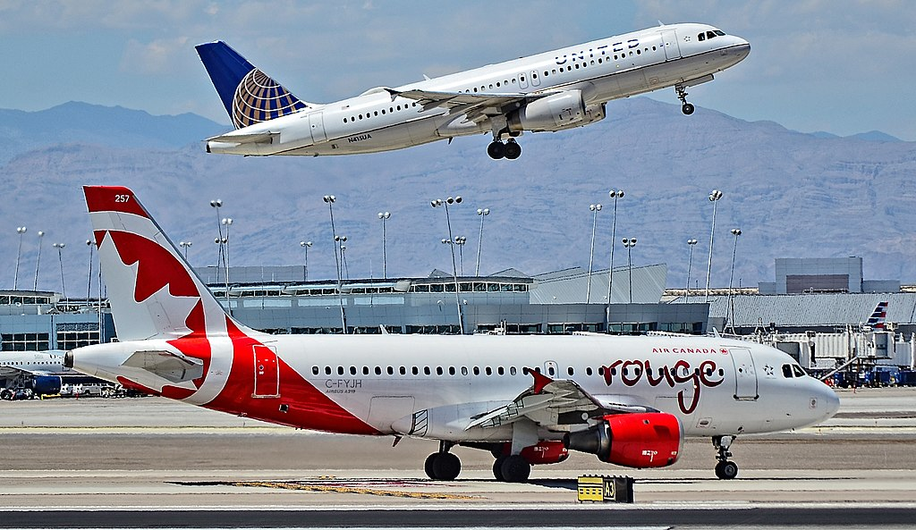 C FYJH Air Canada Rouge Airbus A319 114 cn 672 taxiing at McCarran International Airport LAS KLAS USA