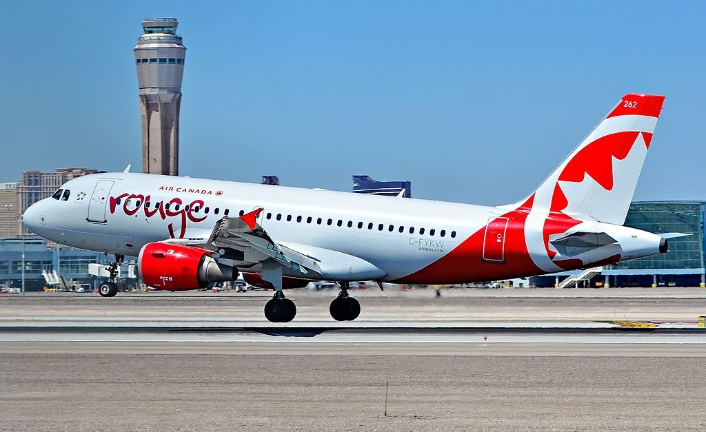 C FYKW Air Canada Rouge Airbus A319 114 cn 695 landing at Las Vegas McCarran International Airport LAS KLAS
