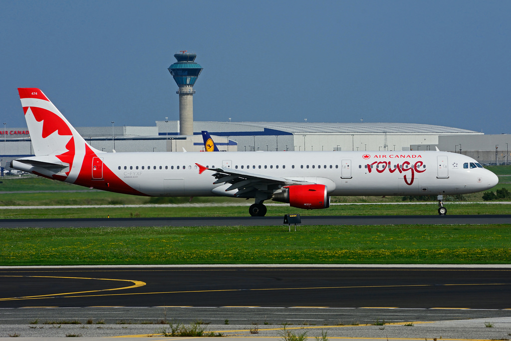 C FYXF Airbus A321 211 Air Canada Rouge leased from Aviation Capital Group at Toronto Lester B. Pearson Airport YYZ