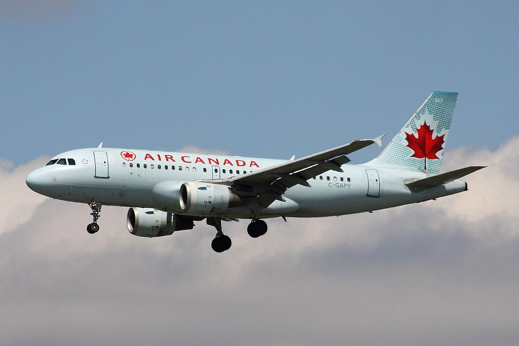 C GAPY Airbus A319 114 Air Canada Aircraft Fleet on final approach at Vancouver International Airport YVR