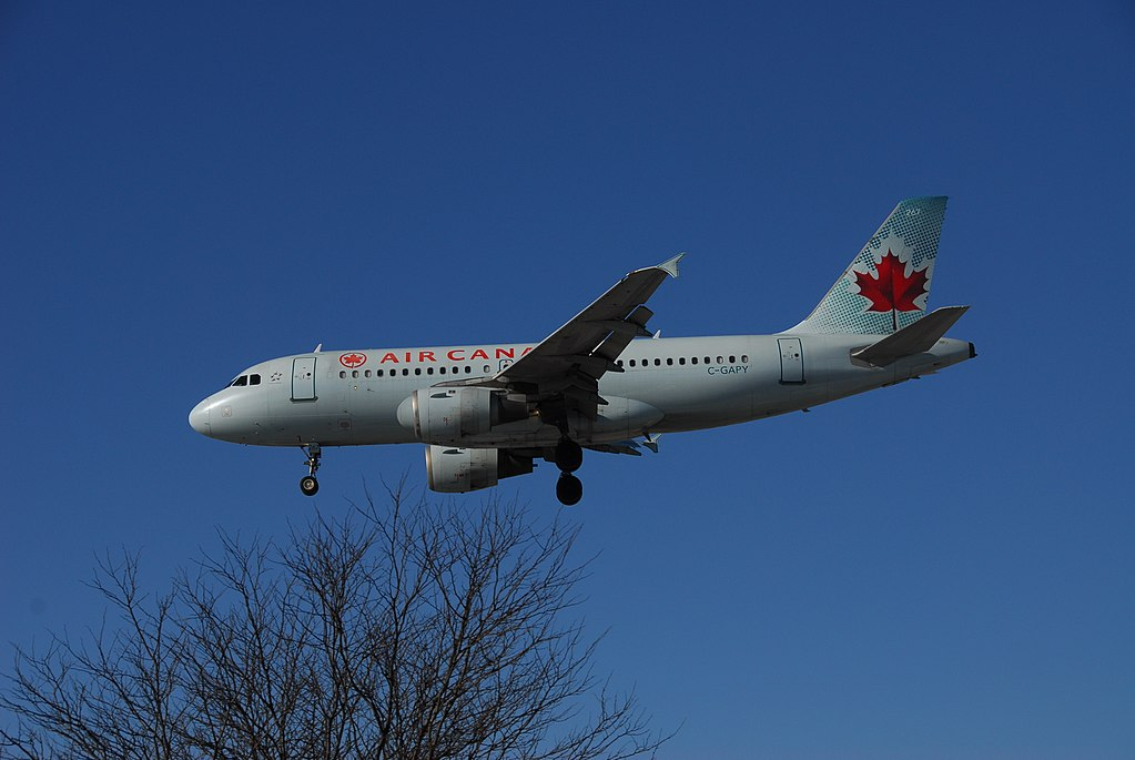 C GAPY Airbus A319 114 Air Canada Aircraft Fleet on final approach at at Toronto Pearson International Airport