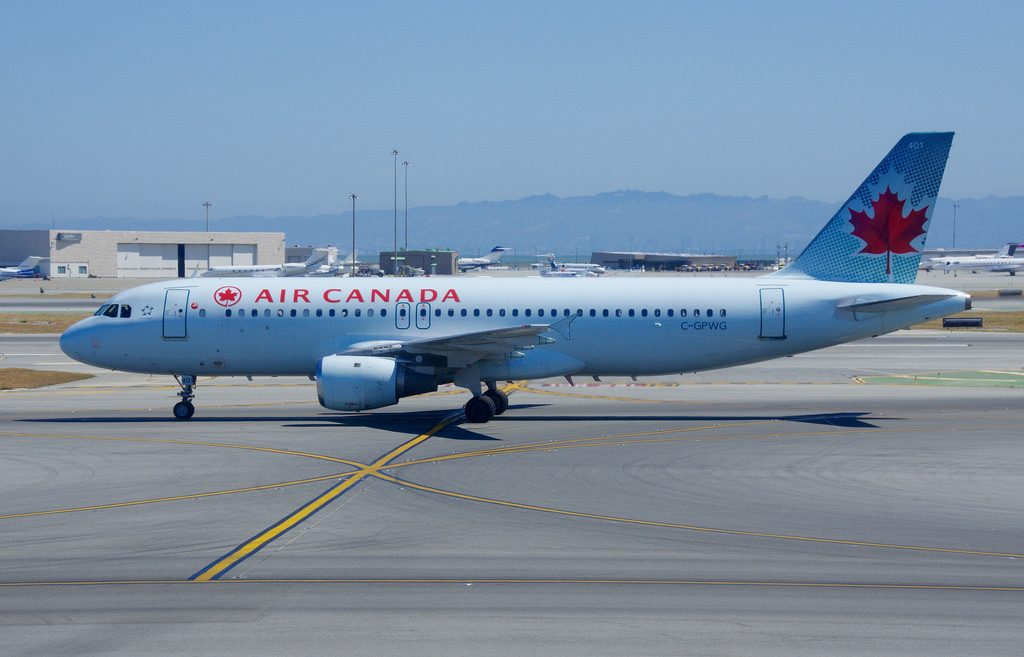 C GPWG Airbus A320 200 Air Canada at San Francisco International SFO